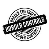 Border Controls rubber stamp Stock Images