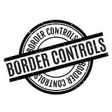 Border Controls rubber stamp Royalty Free Stock Photo