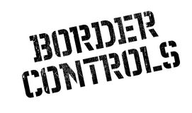 Border Controls rubber stamp Stock Photos