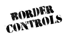 Border Controls rubber stamp Stock Image