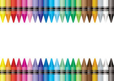 Border crayon Stock Images