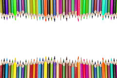 Border crayons Stock Photography