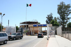 Border Crossing. The USA Mexican border at Algodones, Mexico Stock Image