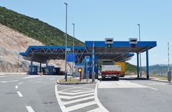 Border crossing between Croatia and Bosnia and Herzegovina Stock Photos