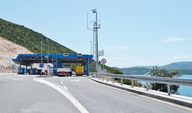 Border crossing between Croatia and Bosnia and Herzegovina Stock Photography