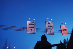 At the border crossing point of European Union Royalty Free Stock Photos