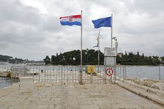 Border crossing Rovinj Stock Photography