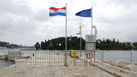 Border Crossing in Rovinj Stock Photo