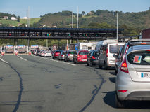 Border crossing Spain and France Royalty Free Stock Photo