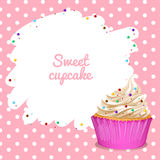 Border with cupcake background Stock Photos
