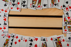 Border of a deck of cards Stock Photography