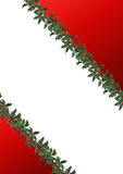 Border decorated with holly leaves Stock Images