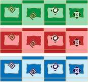 Border decoration design elements. Set of colorful border decoration design elements Stock Photo