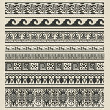 Border decoration set. Greek ethnic patterns Stock Photos