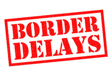BORDER DELAYS Rubber Stamp Stock Photography