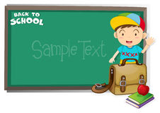 Border design with back to school theme Royalty Free Stock Photo