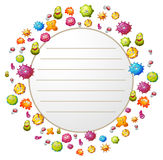 Border design with bacteria Royalty Free Stock Photography