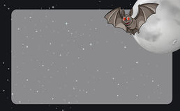 Border design with bat and fullmoon Royalty Free Stock Photography