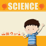 Border design with boy and science Stock Image