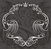 Border design with crown Stock Image