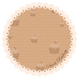 Border design with cupcakes Stock Image