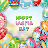 Border design with easter theme Royalty Free Stock Images