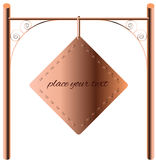Border Design Element copper signboard Stock Images