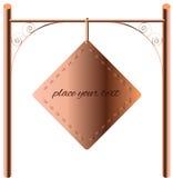 Border Design Element copper signboard. Vector Border Design Element Frame copper Stock Images