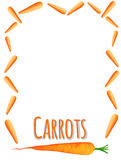 Border design with fresh carrots Stock Photo