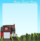 Border design with home sweet home Stock Photography
