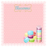 Border design with macarons Stock Photography