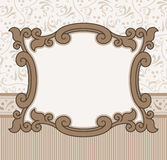Border Design. Vector illustration border old fashioned style Royalty Free Stock Images