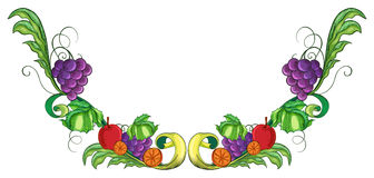 A border with different fruits Stock Photography