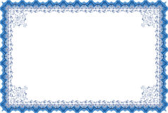 Border diploma or certificate. Stock Photos