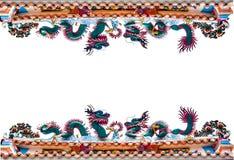 Border dragon architexture figure Royalty Free Stock Photo