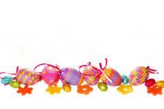 Border with easter eggs Stock Image