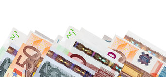 Border of  euro banknotes Royalty Free Stock Photography