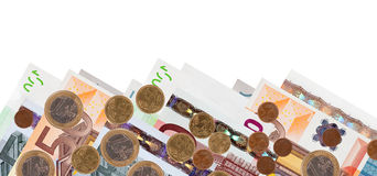 Border of  euro banknotes Royalty Free Stock Images