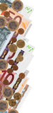 Border from euro banknotes Royalty Free Stock Photography