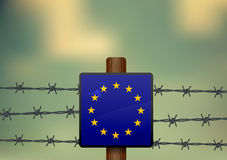 The border of the European Union Royalty Free Stock Images