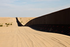 Border fence. International border fence between California and Mexico stock images