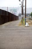 Border fence Stock Photo