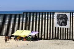 Border fence Stock Photography