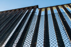 Border Fence Along the US-Mexico Border Stock Images
