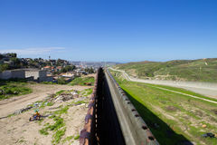 The border fence dividing U.S. and Mexico Stock Images