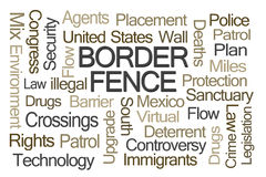 Border Fence Word Cloud Royalty Free Stock Images
