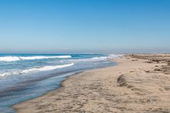Border Field State Park in San Diego, California. Border Field State Park beach, the southwesternmost beach in the USA, and it lies on along the international Stock Photography