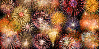 Border with fireworks Royalty Free Stock Photos