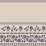 Border floral pattern edge Stock Photo