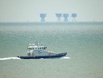 Border force patrolling kent coast Stock Photo
